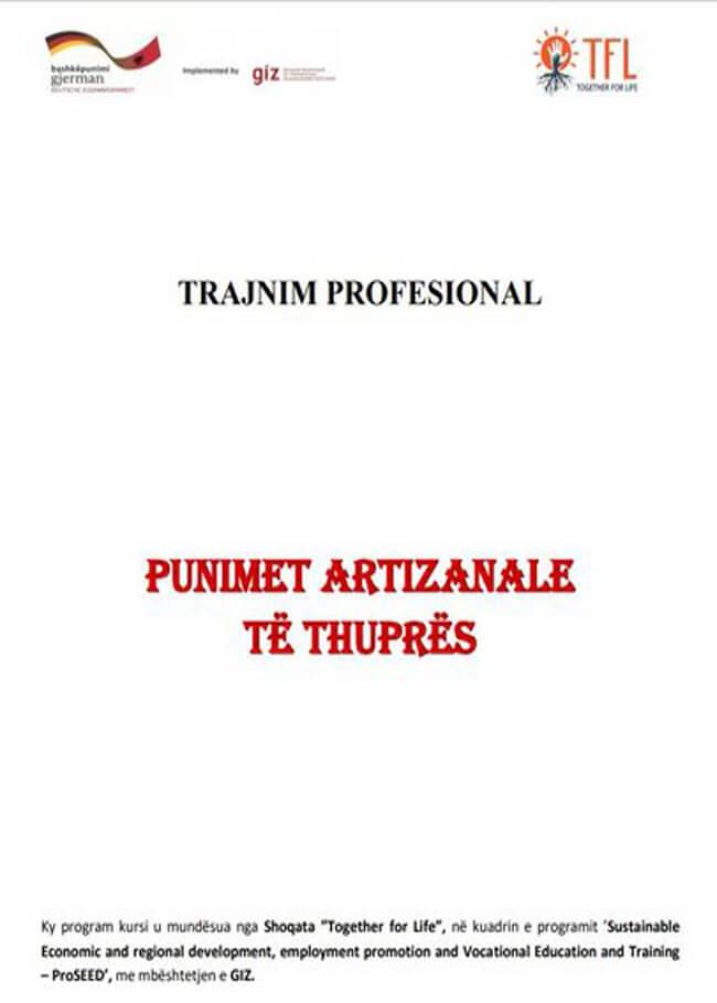Kurrikula e trajnimit – Kursi i punimeve artizanale të thuprës